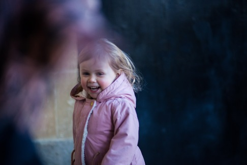 documentary family photography Bournemouth girl in colour