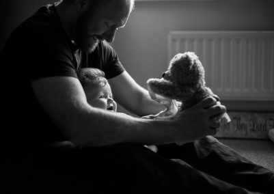 documentary family photography Bournemouth dad daughter portrait